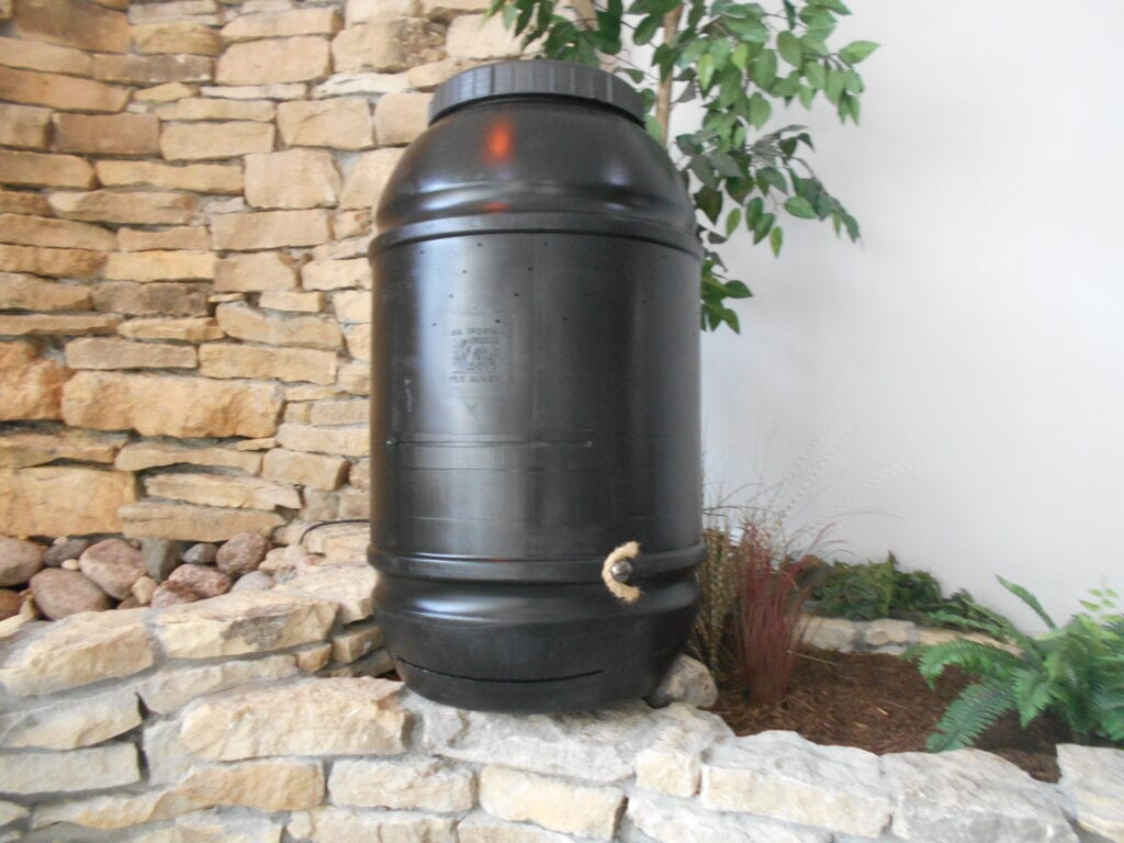 Stationary Composter Door Closed Full View
